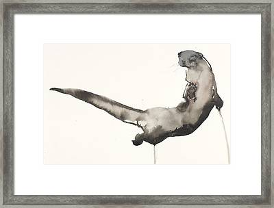 Back Awash   Otter Framed Print
