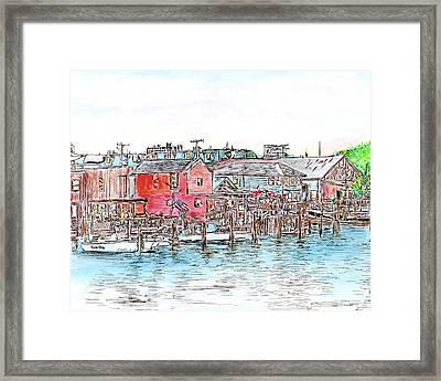 Back Bay, Atlantic City, Nj Framed Print
