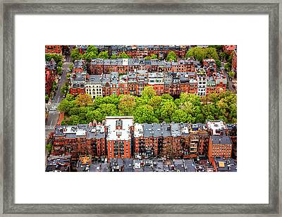 Back Bay Boston  Framed Print by Carol Japp