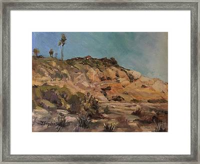 Back Bay Cliff Framed Print