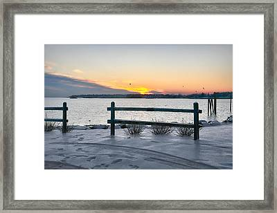 Back Bay Framed Print by Diana Angstadt