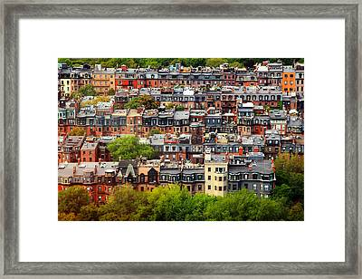 Back Bay Framed Print