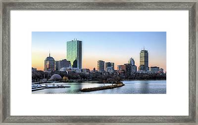 Back Bay Sunrise Framed Print