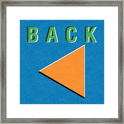 Back Button Framed Print