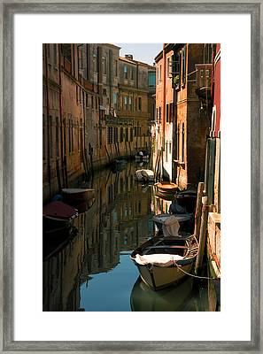 Back Canal In Venice Framed Print by Michael Henderson