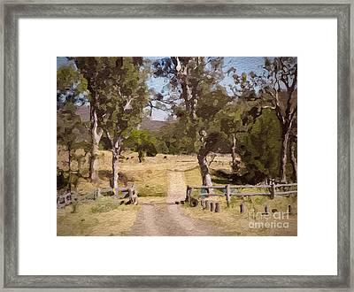 Back Country Farm Track Framed Print