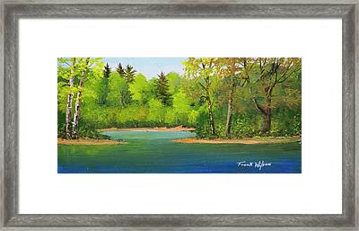 Framed Print featuring the painting Back Country Pond by Frank Wilson