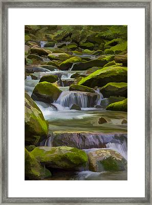 Back Country Stream II Framed Print by Jon Glaser
