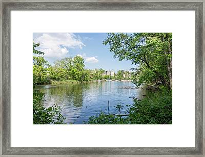 Back Creek At Severn House Framed Print