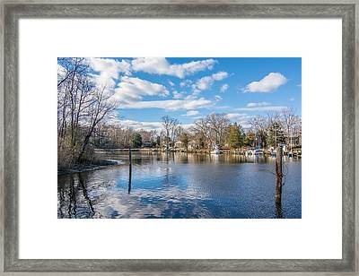 Back Creek Framed Print