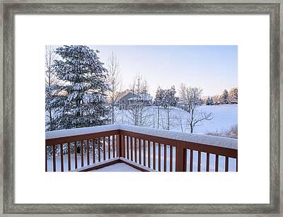 Morning Sun Winter Light Framed Print