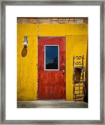 Back Door Framed Print by April Reppucci
