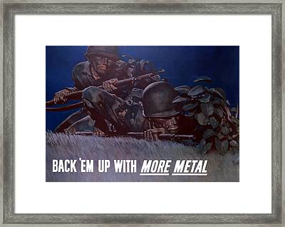 Back 'em Up -- Ww2 Framed Print