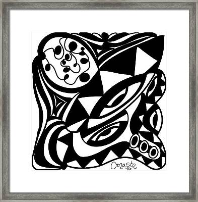 Back In Black And White 1 Modern Art By Omashte Framed Print by Omaste Witkowski