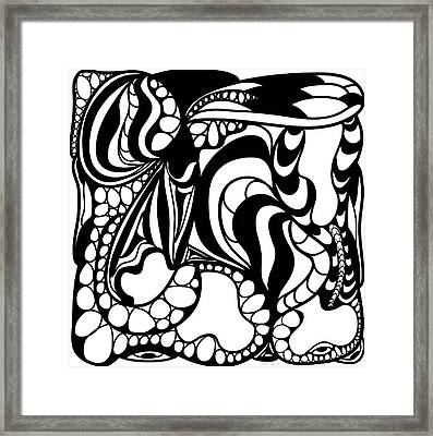Back In Black And White 12 Modern Art By Omashte Framed Print by Omaste Witkowski