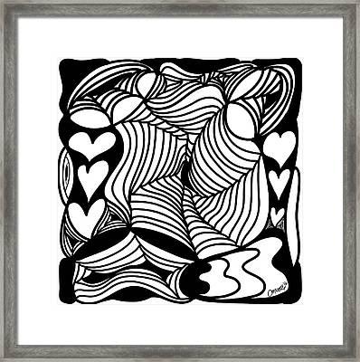 Back In Black And White 13 Modern Art By Omashte Framed Print by Omaste Witkowski