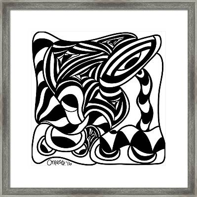 Back In Black And White 4 Modern Art By Omashte Framed Print by Omaste Witkowski