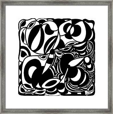 Back In Black And White 5 Modern Art By Omashte Framed Print by Omaste Witkowski