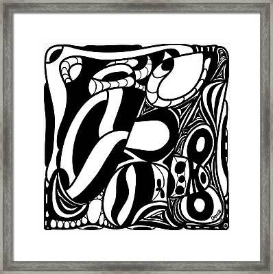Back In Black And White 7 Modern Art By Omashte Framed Print by Omaste Witkowski