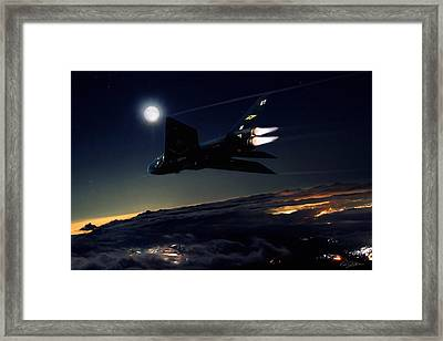 Back In Black Framed Print by Peter Chilelli