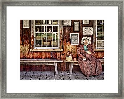 Back In The Days Framed Print by Evelina Kremsdorf