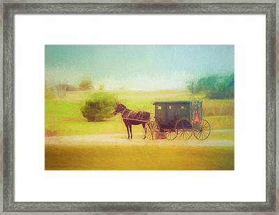 Framed Print featuring the photograph Back In Time by Joel Witmeyer
