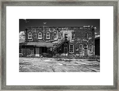 Back Lot - Bw Framed Print by Christopher Holmes