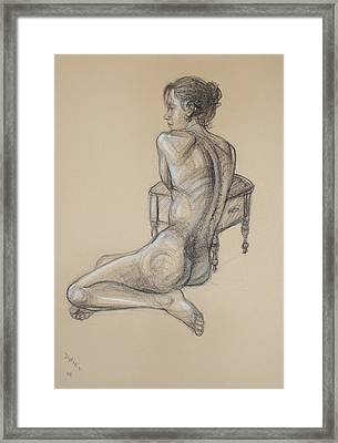Back Nude 2 Framed Print by Donelli  DiMaria