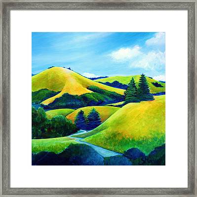 Back Of Mindego Hill Framed Print by Stephanie  Maclean