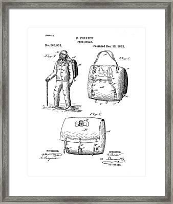 Back Pack Patent 1882 Framed Print