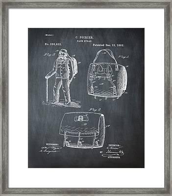 Back Pack Patent 1882 Chalk Framed Print