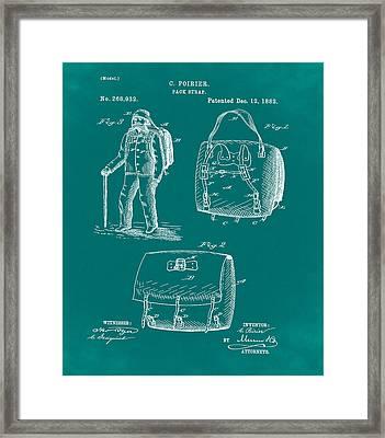 Back Pack Patent 1882 Green Framed Print