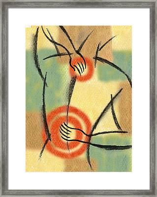 Back Pain Framed Print by Leon Zernitsky