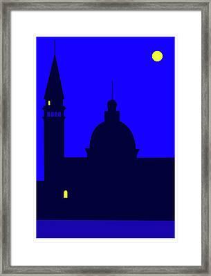Back Piazza San Marco Venice Framed Print by Asbjorn Lonvig