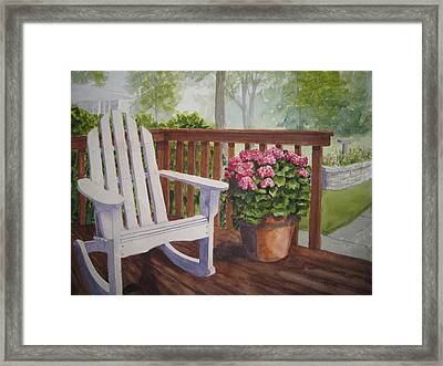 Back Porch Framed Print