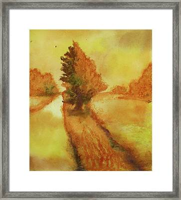 Back Road Near 500 North Framed Print by James Huntley