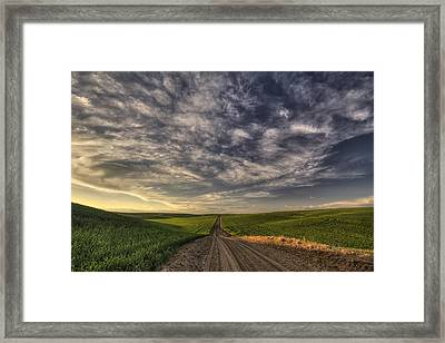 Back Road Solitude Framed Print