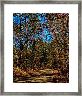 Back Road Framed Print by Thomas Warner