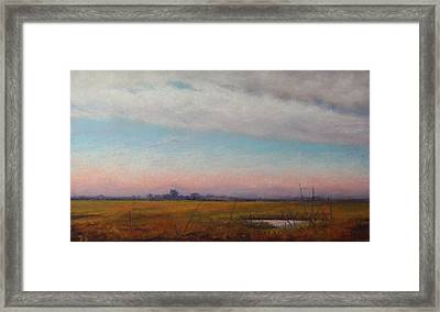 Back Road To Cape May Framed Print by Deb Spinella