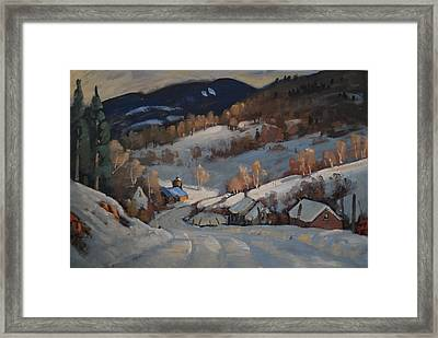 Back Road Vermont Framed Print by Len Stomski