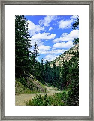 Back Roads Framed Print
