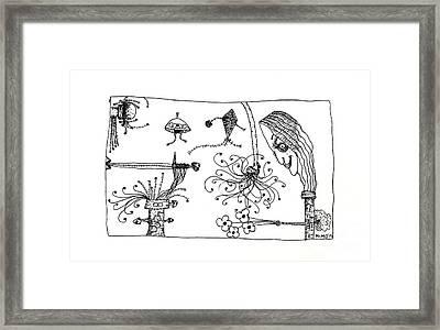 Back Rooms Of My Mind Door# 150515 Framed Print