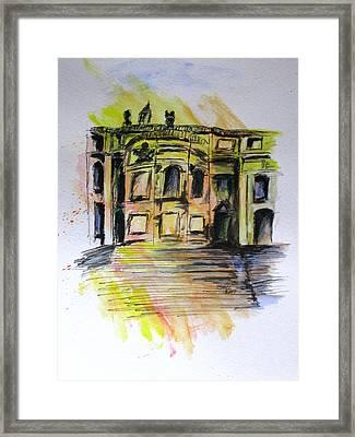Back Side Basilca St Mary Major Framed Print by Clyde J Kell