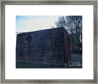 Back Side Of The Clink Framed Print by Laura Deerwester