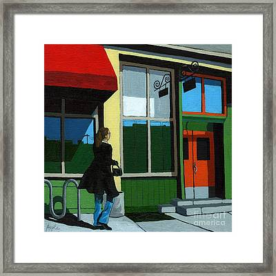 Back Street Grill - Urban Art Framed Print