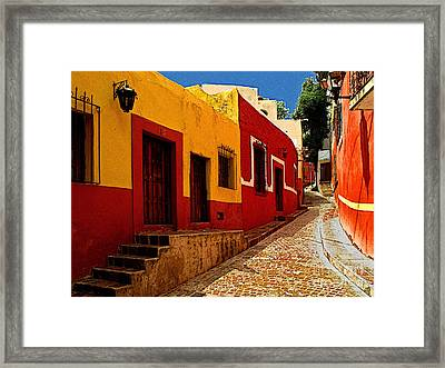 Back Street Guanajuato Framed Print by Mexicolors Art Photography