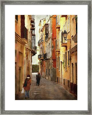 Back Streets Of Spain Framed Print by Declan O'Doherty