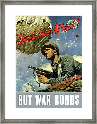 Back The Attack Buy War Bonds Framed Print by War Is Hell Store
