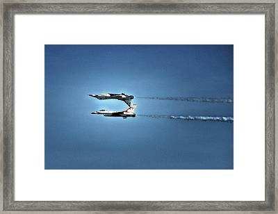 Framed Print featuring the photograph Back To Back Thunderbirds Over The Beach by Bill Swartwout Fine Art Photography