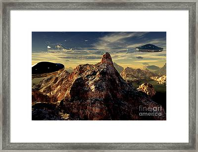Back To Base Framed Print by Napo Bonaparte